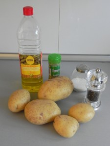 Ingredientes patatas al romero