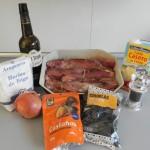 Ingredientes solomillo de cerdo al pedro Ximénez con ciruelas y castañas