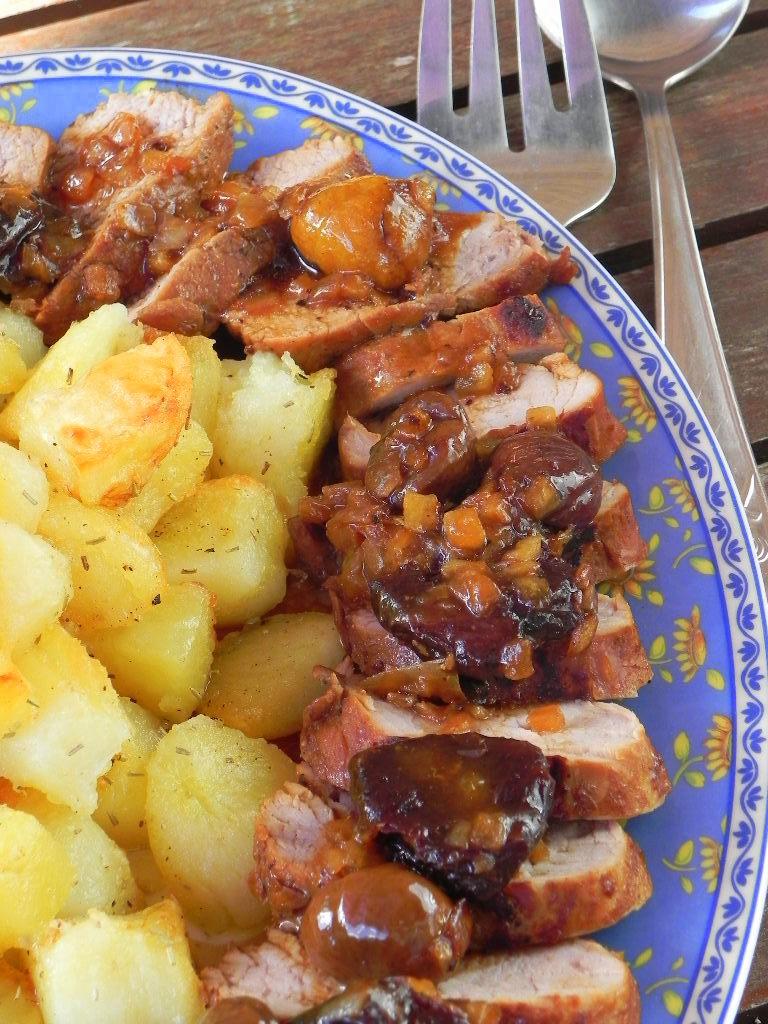 Solomillo de cerdo al pedro xim nez con ciruelas y - Carne con ciruelas pasas ...