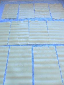 Secamos las láminas de lasagna