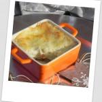 Lasagna de setas con foie y bechamel trufada