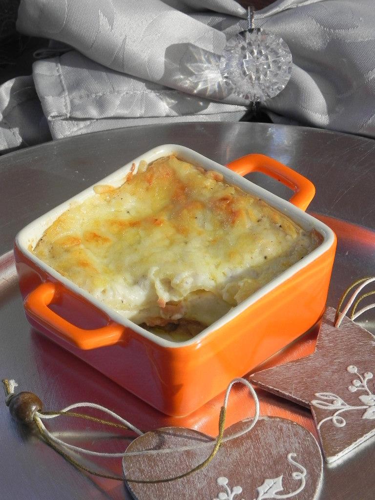 Lasagna de setas con foie