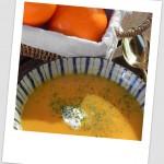 Crema picante de calabaza (con leche de coco y zumo de naranja)