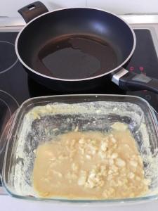 Freimos la marinada en un poco de aceite