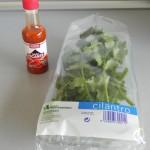 Tabasco y cilantro