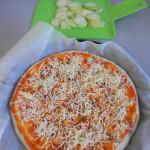 Añadimos el calabacín sobre el queso