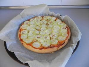 Pasado el tiempo, sacamos la pizza del horno