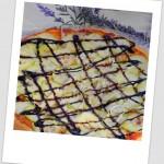 Pizza Carla (de calabacín, queso parmesano y vinagre de Módena)