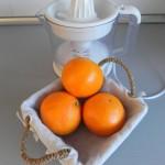 Hacemos el zumo de 3 naranjas
