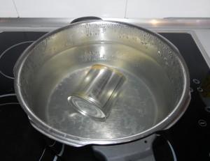 Pasado el tiempo y cuando el vapor está totalmente fuera, abrimos la olla y sacamos la lata