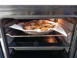 las metemos al horno para que el queso se funda
