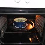 Lo metemos al horno entre 30/35 minutos o hasta que veás que ha cuajado el interior