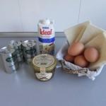 Ingredientes apstel de puerros y boletus