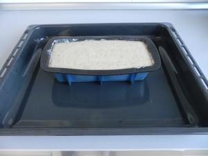 Ponemos el molde sobre una fuente de horno