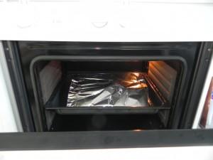 Cubrimos al final de la cocción para que no se queme la superficie