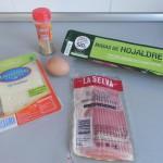 Ingredientes rollitos de bacon y queso