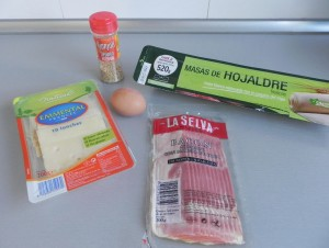 Ingredientes rollitos de bacon y queso