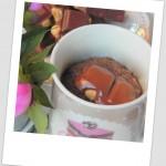 Mugcake de chocolate con leche y avellanas
