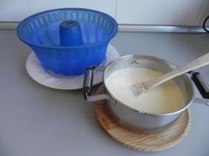 Añadimos la mezcla en el molde