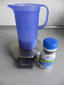 Medimos los 250 ml. de nata para montar