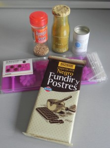 Ingredientes piruletas especiadas