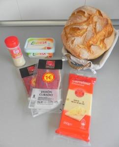 Ingredientes HOgaza de pan de fiesta