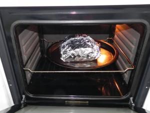 La metemos al horno a 200º durante 40/45 minutos