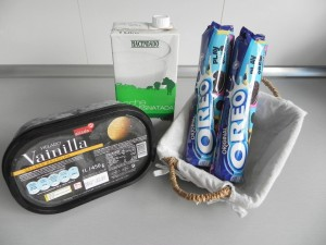 Ingredientes batido de Oreo