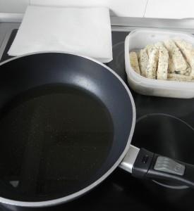Fríimos los palios en aceite muy caliente