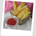 Palitos de mozzarella (mozzarella sticks)