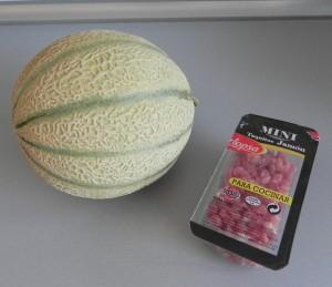 Ingredientes tartar de melón con jamón