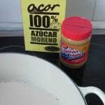 La pasta de cacahuete y el azúcar moreno