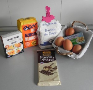 Ingredientes brownie