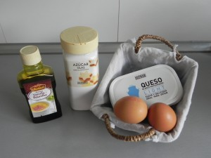 Ingredientes cheescake