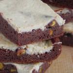 Cheese Brownie con pistachos
