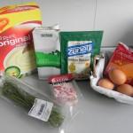 Ingredientes bolitas de patata con bacon, queso y cebollino
