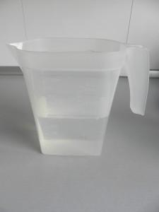 Ponemos la cantidad de agua indicada