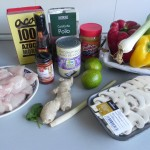 Ingredientes sopa tailandesa de pollo (Thai chicken red curry soup)