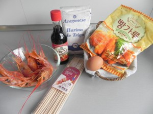 Ingredientes langostinos japoneses