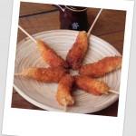 Langostinos japoneses (marinados en terikayi y empanados)