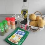 Ingredientes de gajos de patatas de luxe