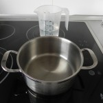 Calentamos1/4 l. de agua