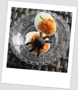 Huevos rellenos de Halloween