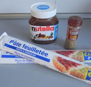 Ingredientes Margarita de Nutella