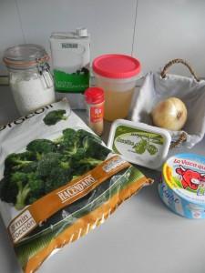 Ingredientes sopa cremosa de brócoli y queso