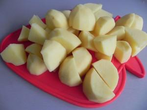 Cortamos las patatas
