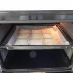 Metemos la fuente en el horno 3 o 4 minutos a 180º