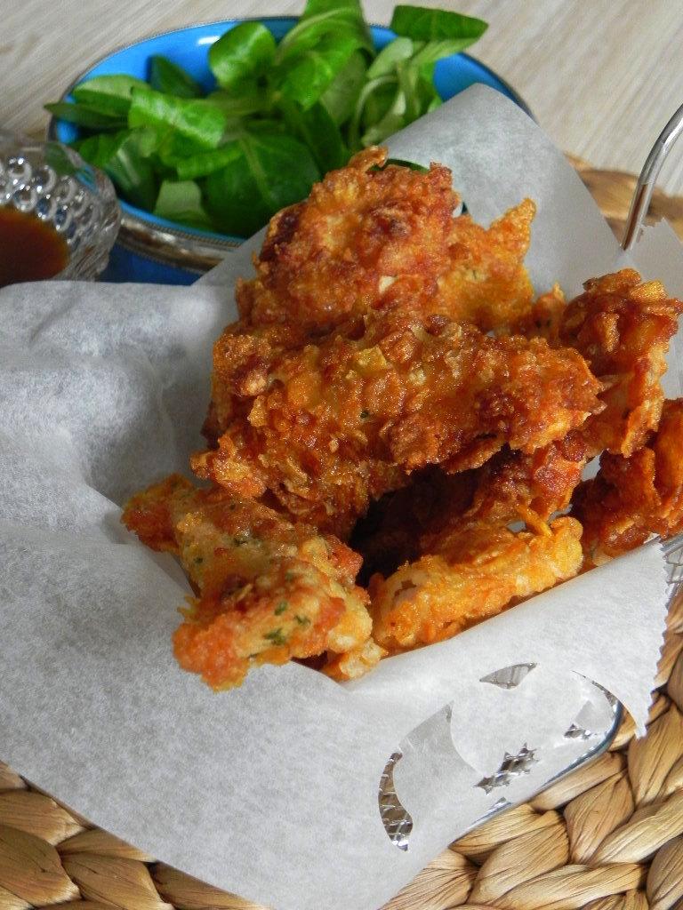 Crunchy nuggets (nuggets de pollo extra crujientes)