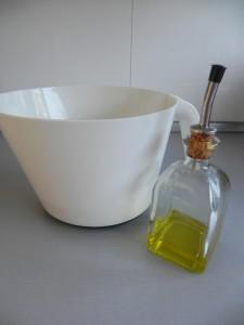 Añadimos una cucharada de aceite de oliva