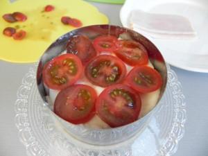 Otra de rodajas de tomate cherry